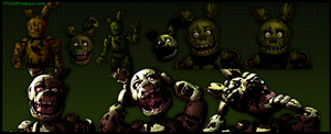 Various Springtrap v8 Renders by TF541Productions