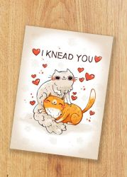 I knead you card by michellescribbles