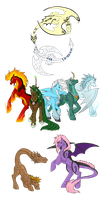 Dragon/Dragon-Tail Pony Species - Info by PonyAdoptsShared