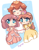 Retro: Princesses by PaperCyn