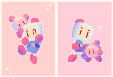 bomberman kirby by thepoecatcher
