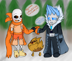Mecha sans and Minwy meets crunchyroll sans AT by AshleyFluttershy