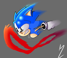The Blue Blur by Darkspike75
