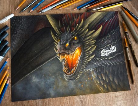 Drogon drawing by Bajan-Art