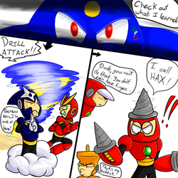 Art Trade: Air Man's new ability by Waver92