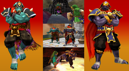 Brawl/Project M Mods - Pig Ganon Recolors by Ch40sKnight