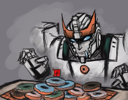 Prowl and his donuts~ by Remedystune