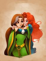 Mother and Daughter by charlestanart