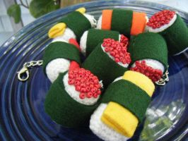 Crocheted Sushi- Crochushi by EffyCrush