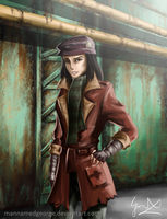Fallout 4 - Piper [Speed Painting] by CaptainBombastic