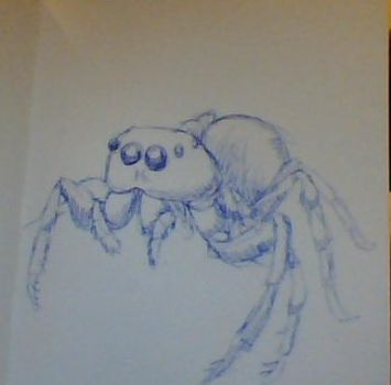 Day 18- WEBcam Spider by OrcaTeeth
