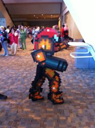 Samus Pixelated Cosplay by ChozoBoy