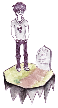 hary and his grave by FMMBadges