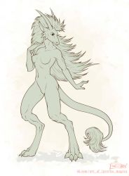 Random dragoness by Laterne-Magica