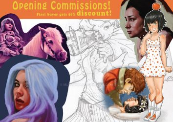 Opening Commissions! by MiaMania