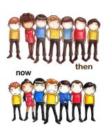Star Trek Then and Now by theanswerisme