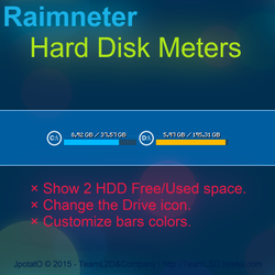 Rainmeter: HDD Usage Bars 1R3 by JpotatoTL2D
