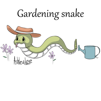 Gardening snake by AhleuLee