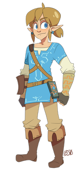 Link from Breath of the Wild by AriesPetal