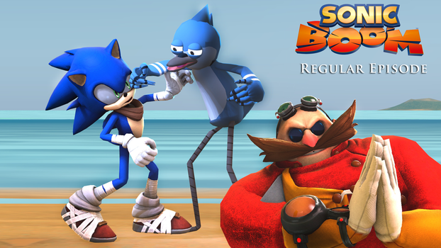 Sonic Boom Regular Show Cross Over by shadow759