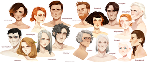Warrior cats - humanization by VardasTouch