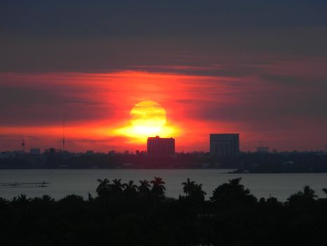 Miami Sunset by EndOfGreatness