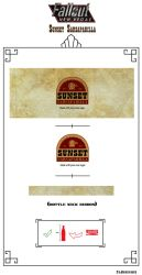 Sunset Sarsaparilla Label by Whatpayne