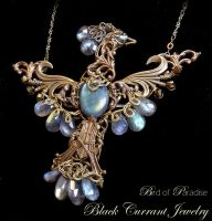 Bird of Paradise by blackcurrantjewelry