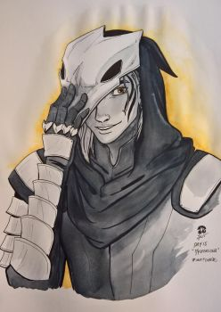 Zevran for Inktober 2017 by CherryJanie