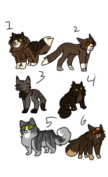 Bramblestar and Stormfur shipkid free adopts 4/6 by sugarthe