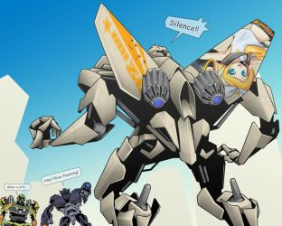 Starscream x Kagamine Rin by yo-3