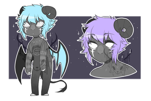 Sleepy Demon - Adopt Auction [sold] by OperaHouseGhost