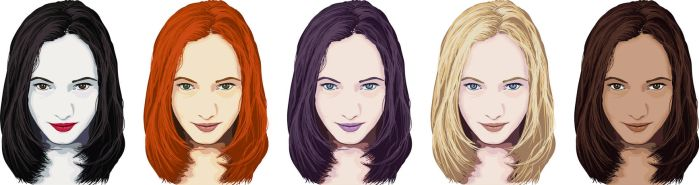 Faces x5 by gnyp