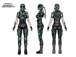 Female Scout Concept by LindaLagzdina