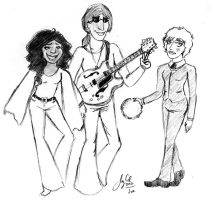 Hue, Val and Syd in '72 by jellyandjamXD
