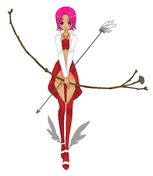 Pink Haired Archer by Xella-15