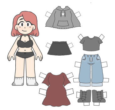 Paper Doll Blank With Clothes by shadowkitty13
