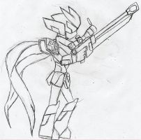 Medabot Ice Sketch by NeonNeoz