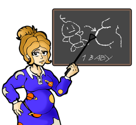 Ms Frizzle biology lesson - 1 by NasuOkaa-san