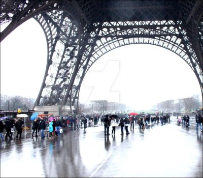 Tour Eiffel  Winter  Paris MjY by MjYj