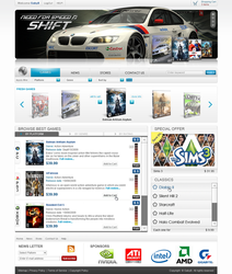 Gameshop design by FlorinGG