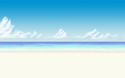 Another Anime Beach Background by wbd