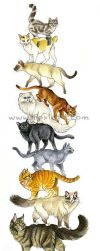 Cat Stack by Foxfeather248