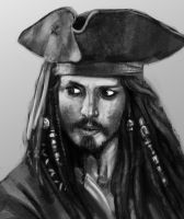 Day #26 Jack Sparrow by merkerinn