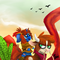 Strolling through the desert (Arizona) by Snogwritts