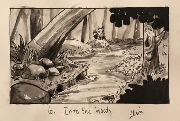 Inktober 2018 Day 6: Into the Woods by xYaminogamex