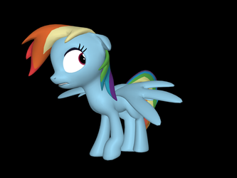 Scared Rainbow Dash SFM by PrincessApp