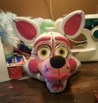 Funtime Foxy fursuit head (WIP) by jolteon-kitty