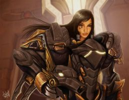Pharah Anubis Fanart by andre-ma