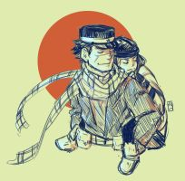 Golden Kamuy Doodle by for-the-saba
